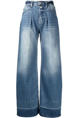 Frame Faded wide-leg jeans
