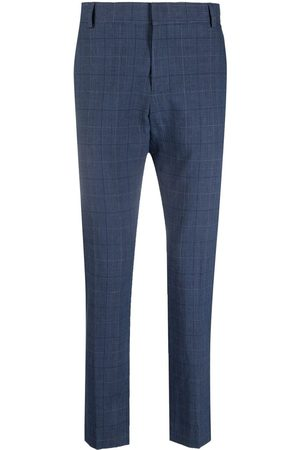 D.A. Daniele Alessandrini Check print tailored trousers
