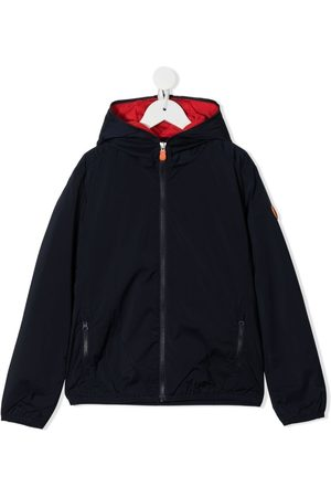 save the duck Logo-plaque hooded jacket