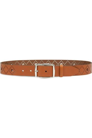 Fendi Perforated FF-logo belt