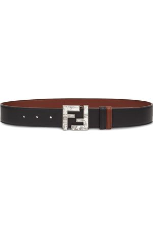 Fendi FF marbled plaque reversible belt