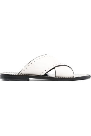 Twin-Set Crossover-strap leather sandals