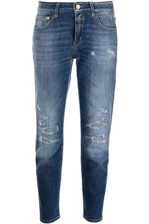 Closed Baker distressed slim-fit jeans