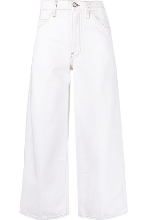 Frame Cropped wide-leg jeans