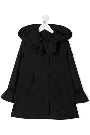 Moncler Pleated-back hooded coat