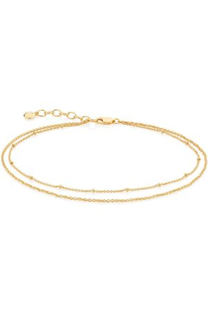 Monica Vinader Double-chain adjustable anklet