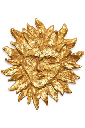 Yves Saint Laurent Pre-Owned Women Pins & Brooches - 1990s sun face brooch
