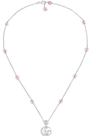 Gucci Men Necklaces - Double G mother of pearl necklace