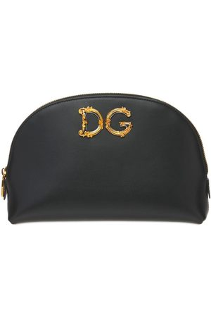 Dolce & Gabbana Girls Bags - Dg Girls Barocco Leather Make Up Bag