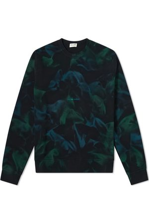 Saint Laurent Archive Logo Tie Dye Crew Sweat