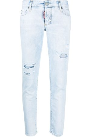 Dsquared2 Women Skinny - Low-rise distressed skinny jeans