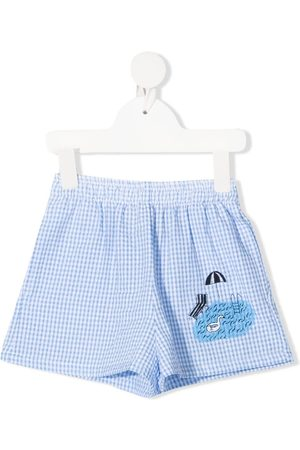 Weekend House Kids Boys Shorts - Gingham-print shorts