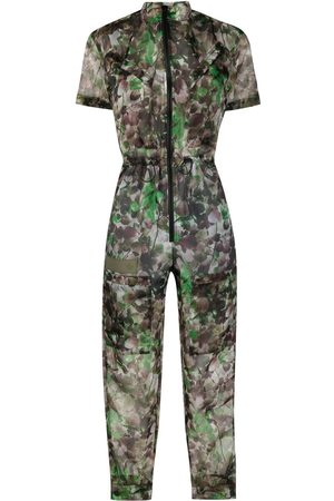 Mr & Mrs Italy Blossom camouflage-print tapered jumpsuit