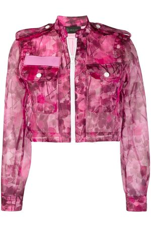 Mr & Mrs Italy Women Jackets - Blossom camouflage-print cropped jacket