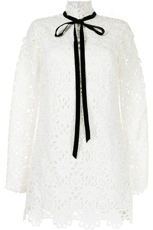 Macgraw Women Evenings Dresses - Embroidered tied-neck minidress