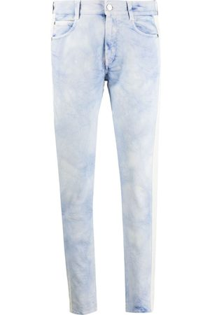Stella McCartney Women Skinny - Marble side-stripe slim-leg jeans
