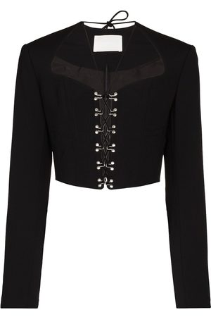 DION LEE Women Jackets - Lace-up cropped jacket