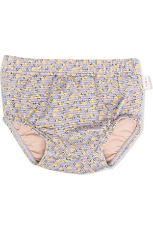 Tiny Cottons Boys Swimming Trunks - Floral-print swimming briefs