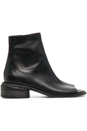 MARSÈLL Women Ankle Boots - Open-toe leather ankle boots