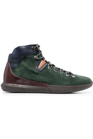 Bally Men Outdoor Shoes - Suede panelled hiking boots