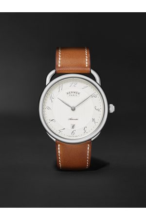 Hermès Men Watches - Arceau Automatic 40mm Stainless Steel and Leather Watch, Ref. No. 055473WW00