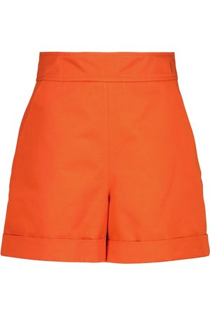 Marni High-rise cotton and linen shorts