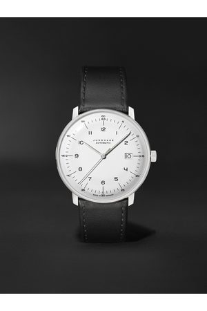 Junghans Men Watches - Max Bill Automatic 38mm Stainless Steel and Leather Watch, Ref. No. 027/4700.02
