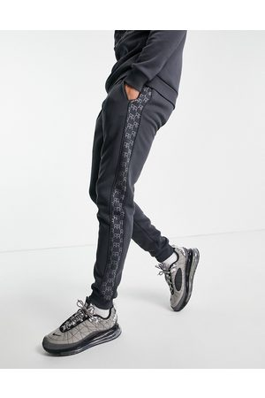 River Island Men Tracksuit - Monogrammed joggers in