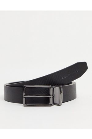 French Connection Square textured revesible belt in