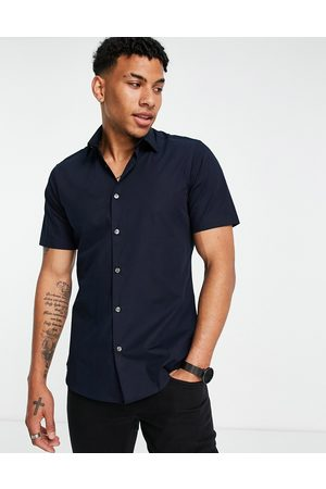 French Connection Plain stretch short sleeve shirt
