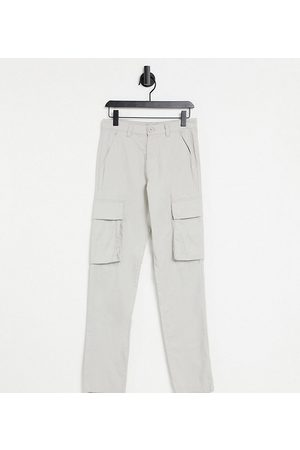 French Connection Men Cargo Pants - Tall slim fit cargo trousers in stone