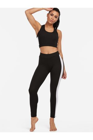 YOINS Women Tracksuits - Active Contract Color Sleeveless Tracksuit in