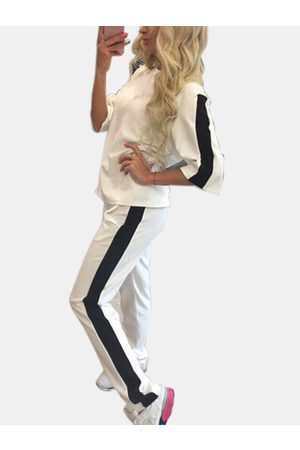 YOINS Women Tracksuits - Active Contrast Color Stitching Elastic Tracksuit in