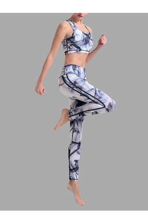 YOINS Active Random Printed Middle-waisted Tracksuit
