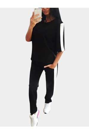 YOINS Active Contrast Color Stitching Elastic Tracksuit in