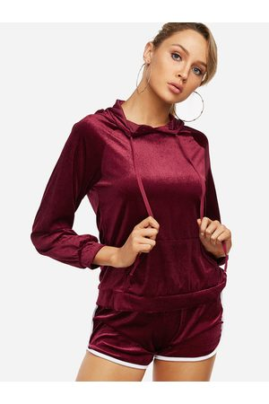 YOINS Active Hooded Design Elastic Tracksuit in