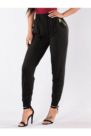 YOINS Zip Pockets Stretch Waistband Pants