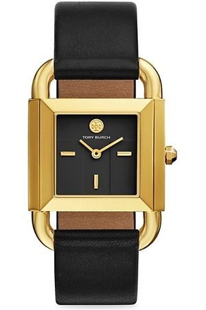 Tory Burch Watches - Phipps Goldtone Two-Hand Leather Strap Watch