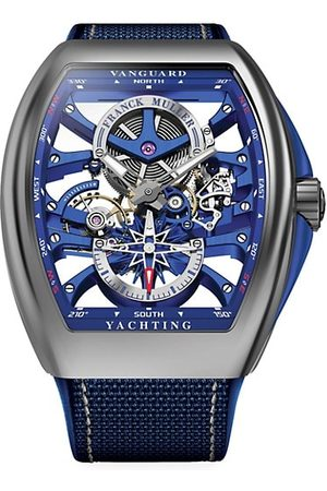 FRANCK MULLER Watches - Vanguard Yachting Skeleton Stainless Steel, Alligator & Rubber Strap Watch