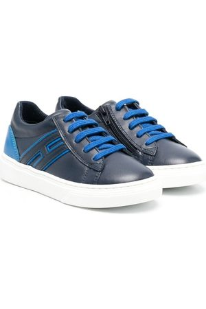 Hogan Boys Sneakers - Side-zip low-top sneakers