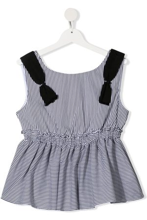 MONNALISA Tank Tops - TEEN stripe print sleeveless blouse