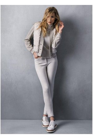 TRICOT CHIC Suede trousers