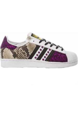 adidas WOMEN'S MIM1761 MULTICOLOR LEATHER SNEAKERS