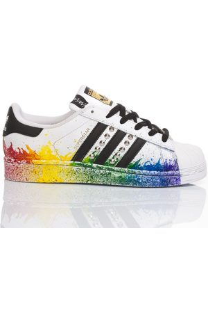adidas Women Sneakers - WOMEN'S MIM1651 MULTICOLOR LEATHER SNEAKERS