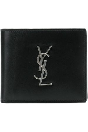 Saint Laurent Men Wallets - SAINT LAURENT MEN'S 4532760SX0E1000 LEATHER WALLET