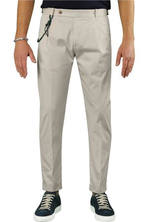 Berwich RETRO SOLARO CREAM CHINO TROUSERS