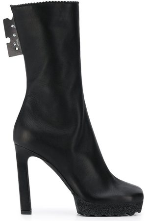 Off-White WOMEN'S OWID005F20LEA0011000 LEATHER ANKLE BOOTS