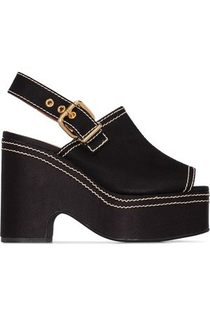 Marni WOMEN'S ZPMS004511P296500N99 LEATHER WEDGES