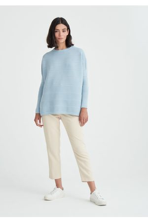 Paisie Ribbed Jumper with Crochet Detail