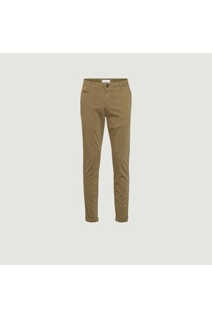 Knowledge Cotton Apparal JOE slim chino pants Burned Olive Knowledge Cotton Apparel